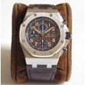 Replica Audemars Piguet Royal Oak Offshore Chronograph 2018 SIHH 26470 JF V2 Stainless Steel Chocolate Dial Swiss 3126