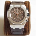 Replica Audemars Piguet Royal Oak Offshore Chronograph 2018 SIHH 26470 JF V2 Stainless Steel Brown Dial Swiss 3126