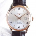 Replica Longines Record L2.821.4.76.2 AF Stainless Steel & Rose Gold Silver Dial Swiss L888.4