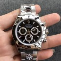 Replica Rolex Daytona Cosmograph 116520 AR V2 Stainless Steel 904L Black Dial Swiss 4130 Run 6@SEC