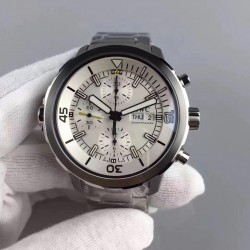 Replica IWC Aquatimer Chronograph IW376802 HBBV6 Stainless Steel Silver Dial Swiss 7750