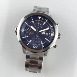 Replica IWC Aquatimer Chronograph IW376805 HBBV6 Stainless Steel Blue Dial Swiss 7750