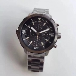 Replica IWC Aquatimer Chronograph IW376804 HBBV6 Stainless Steel Black Dial Swiss 7750