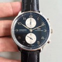 Replica IWC Portugieser Chronograph IW371404 ZF Stainless Steel Black & White Dial Swiss 7750