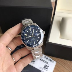 Replica Tag Heuer Aquaracer Calibre 5 WAY201B.BA0927 N Stainless Steel Blue Dial Swiss SW200