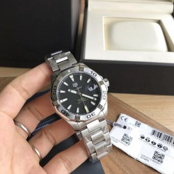 Replica Tag Heuer Aquaracer Calibre 5 WAY2010.BA0927 N Stainless Steel Black Dial Swiss SW200