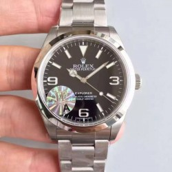 Replica Rolex Explorer 214270 JF V3 Stainless Steel Black Dial Swiss 2836-2