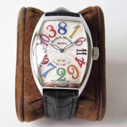 Replica Franck Muller Crazy Color Dreams FM 8880 CH COL DRM AB Stainless Steel Silver Dial Swiss 2824-2
