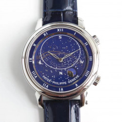 Replica Patek Philippe Grand Complications Sky Moon Celestial 5102G N Stainless Steel Blue Dial Swiss 240 LU CL C