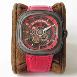 Replica SevenFriday P3B/06 Racing Team Red SV PVD Red Dial Miyota 82S7