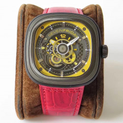 Replica SevenFriday P3B/03 Racing Team Yellow SV PVD Yellow Dial Miyota 82S7