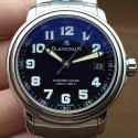 Replica Blancpain Leman Hundred Hours Stainless Steel Black Dial M9015