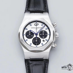 Replica Girard Perregaux Laureato Chronograph 42MM 81020-11-131-BB6A TWA Stainless Steel White Dial Swiss 7750