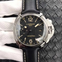 Replica Panerai Luminor GMT 1950 3 Days PAM531 VS V2 Stainless Steel Black Dial Swiss P9003
