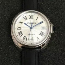 Replica Cle De Cartier 40MM Stainless Steel Silver Dial M9015
