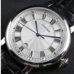 Replica Cartier Rotonde 42MM Stainless Steel Silver Dial Swiss 2824-2