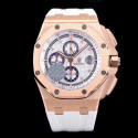 Replica Audemars Piguet Royal Oak Offshore 50 Byblos Saint-Tropez 26408OR.OO.A010CA.01.99 JF V2 Rose Gold White Dial Swiss 3126