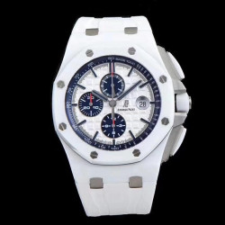 Replica Audemars Piguet Royal Oak Offshore 26402CB.OO.A010CA.01 JF V2 White Ceramic White Dial Swiss 3126