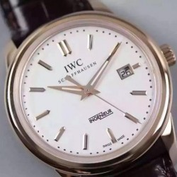Replica IWC Ingenieur St Laurens Rose Gold White Dial Swiss IWC 80111