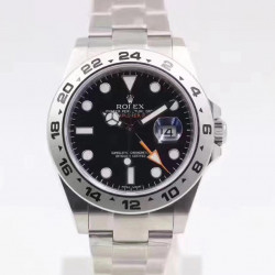 Replica Rolex Explorer II 216570 2018 V7 Stainless Steel Black Dial Swiss 2836-2