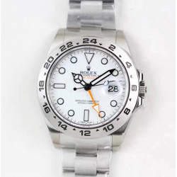 Replica Rolex Explorer II 216570 2018 V7 Stainless Steel White Dial Swiss 3187
