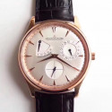 Replica Jaeger-LeCoultre Master Ultra Thin Reserve De Marche 1372520 SW Rose Gold Silver Dial Swiss Caliber 938A/1