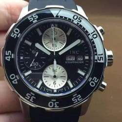 Replica IWC Aquatimer IW3767 Stainless Steel Black Dial Swiss 7750
