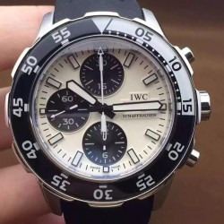 Replica IWC Aquatimer IW3767 Stainless Steel White Dial Swiss 7750