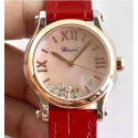 Replica Chopard Happy Sport 36MM Automatic 278559 Noob Stainless Steel & Rose Gold Pink Dial Swiss 2892