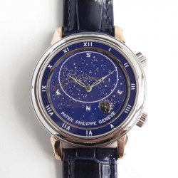 Replica Patek Philippe Grand Complications Sky Moon Celestial 5102PR Noob Rose Gold Blue Dial Swiss 240 LU CL C