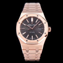 Replica Audemars Piguet Royal Oak 15450 JF V5 Rose Gold Black Dial Swiss 3120
