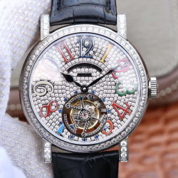Replica Franck Muller Round Color Dreams Tourbillon TWL Stainless Steel & Diamonds Diamond Dial Swiss Tourbillon