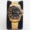 Replica Rolex Submariner Date 116618LN VR Stainless Steel With 18K Yellow Gold Wrapped Black Dial Swiss 2836-2