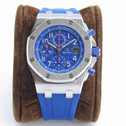 Replica Audemars Piguet Royal Oak Offshore Chronograph 2018 SIHH 26470 JF V2 Stainless Steel Blue Dial Swiss 3126