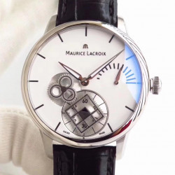 Replica Maurice Lacroix Roue Carree Seconde MP7158-SS001-901 AM Stainless Steel White Dial Swiss ML 156
