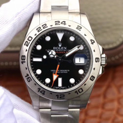 Replica Rolex Explorer II 216570 JF V3 Stainless Steel Black Dial Swiss 2836-2