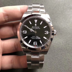 Replica Rolex Explorer 214270 GM Stainless Steel 904L Black Dial Swiss 3132