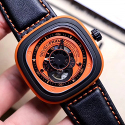 Replica SevenFriday P1/03 SW PVD Orange Dial Miyota 82S7