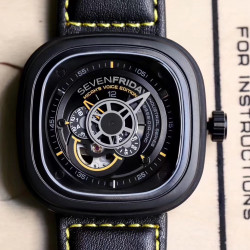 Replica SevenFriday P2B/02 Revolution SW PVD Black & Yellow Dial Miyota 82S7