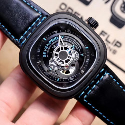 Replica SevenFriday P2B/02 Revolution SW PVD Black & Blue Dial Miyota 82S7