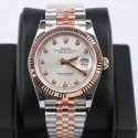 Replica Rolex Datejust 36MM 116231 GM Stainless Steel 904L & Rose Gold Silver Dial Swiss 2824-2