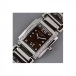 Replica Patek Philippe Ladies Twenty-4 4910/10A Noob Stainless Steel Brown Dial Swiss Ronda Quartz