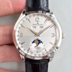 Replica Jaeger-LeCoultre Master Calendar 1558420 KM Stainless Steel Silver Dial Swiss Caliber 866/1
