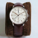 Replica IWC Portugieser Chronograph IW371445 ZF V2 Stainless Steel Silver Dial Swiss 7750