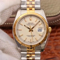 Replica Rolex Datejust 36MM 116233 AR V2 Stainless Steel & Yellow Gold Silver Dial Swiss 3135