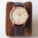 Replica Jaeger-LeCoultre Master Ultra Thin Date 1282510 ZF Rose Gold Beige Dial Swiss JLC 899/1