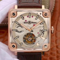 Replica Bell & Ross BR-X2 Tourbillon Micro-Rotor BBR V2 Rose Gold & Sapphire Stainless Steel Dial Swiss BR-CAL.380