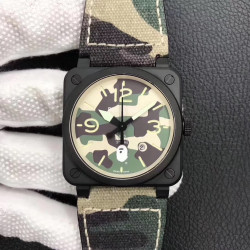 Replica Bell & Ross BR 03-92 PVD Bape Noob V3 PVD Camouflage Apes Dial M9015