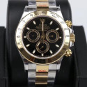 Replica Rolex Daytona Cosmograph 116503 GM Yellow Gold & Stainless Steel 904L Black Dial Swiss 4130 Run 6@SEC