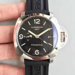 Replica Panerai Luminor Marina 1950 3 Days GMT PAM320 VS V2 Stainless Steel Black Dial Swiss P9001